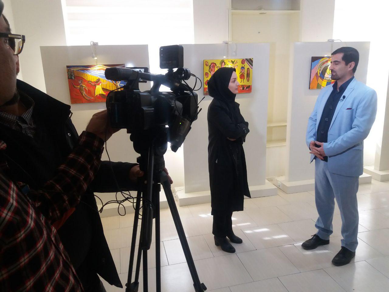 برگزاری گالری نقاشی مددجویان توانبخشی پارسا
